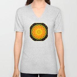 Citrus Slice Kaleidoscope Unisex V-Neck