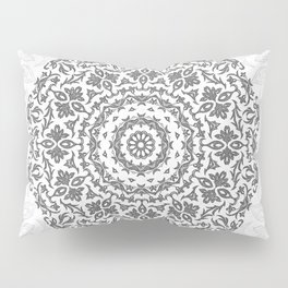Bohemian Glittering Floral Mandala Pillow Sham