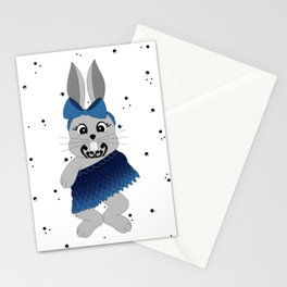 Miss Rapeti (blue bow) Stationery Cards