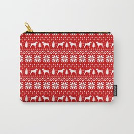 German Wirehaired Pointer Silhouettes Christmas Sweater Pattern Carry-All Pouch