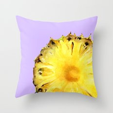 Pineapple on Lavender Throw Pillow