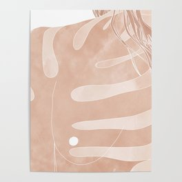 nude monstera Poster