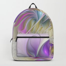 Find You, Luminous Abstract Fractals Art Backpack