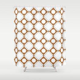 Geometric Pattern - Oriental Star Design Shower Curtain