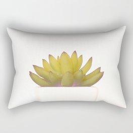 Cactus in flower pot on white background Rectangular Pillow