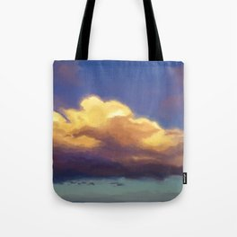 cloudy evening sky study 2020-02-23 Tote Bag