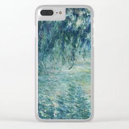 Claude Monet - Morning on the Seine - Impressionism Clear iPhone Case