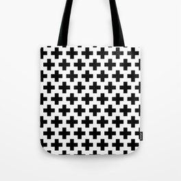Swiss Cross B&W Tote Bag