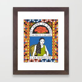 Eva Hesse Mantra Framed Art Print