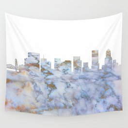 Portland Skyline Oregon Wall Tapestry