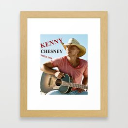 KENNY CHESNEY TOUR WORLD 2018 Framed Art Print
