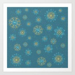 Festive Snowflakes Art Print