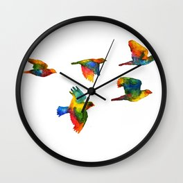 Rainbow Flight Wall Clock