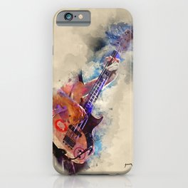 Flea's bass guitar, guitar art, guitar gifts, gift for guitarists iPhone Case