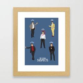 The Usual Suspects, Kevin Spacey, minimalist movie poster, Gabriel Byrne, Singer, Benicio Del Toro, Framed Art Print