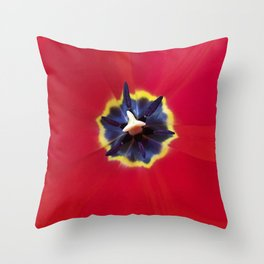 Seeing red (at tulip time) Throw Pillow