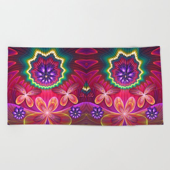 On their way to butterfly heaven Beach Towel