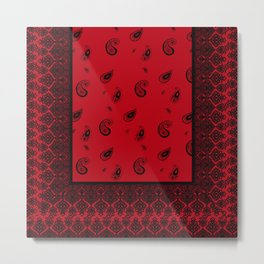 Bandana Red Metal Print