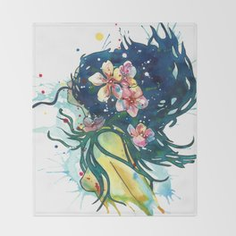 Beach Goddess Throw Blanket