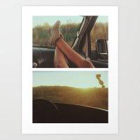 indie Art Prints featuring Indie Summer by Eduardo Acierno