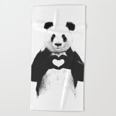 All you need is love Beach Towel