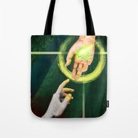 "dragon age Tote Bags featuring Dragon Age Inquisition - Hope by Barbara ""Yuhime"" Wyrowińska"