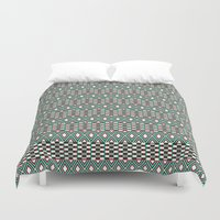 folk Duvet Covers featuring Folk by Ana Types Type