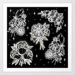 floral night Art Print