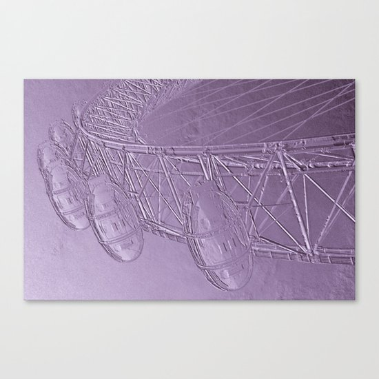 Embossed London Eye Canvas Print