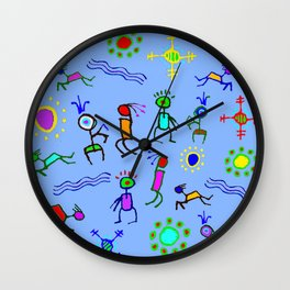 Southwest Summer Fun in the Sun Wall Clock