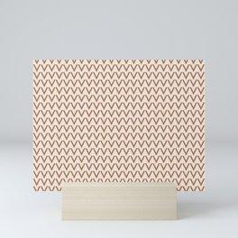 Cavern Clay SW 7701 V Shape Horizontal Lines on Creamy Off White SW7012 Mini Art Print