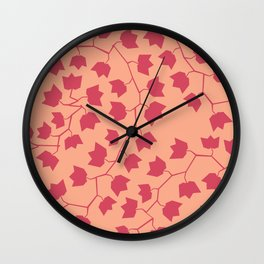Red ivy Wall Clock