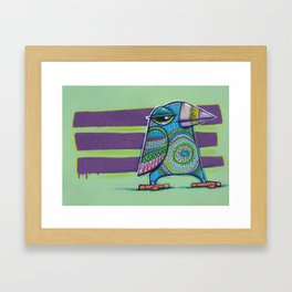 Purple stripe doodlebird Framed Art Print