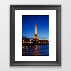 Eiffel Tower and Bokeh. Framed Art Print