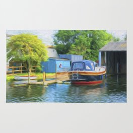 Boat on the Broads Rug