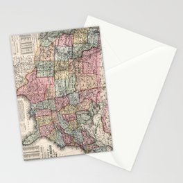 Vintage United States Map (1860) Stationery Cards