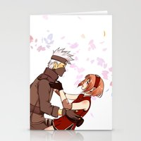 kakashi Stationery Cards featuring Fleeting Beauty by Pamianime