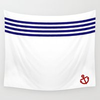 sailor Wall Tapestries featuring sailor by graciekeem