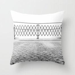 Ferry Fence Throw Pillow