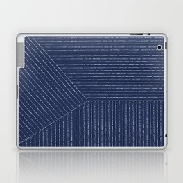 Lines / Navy Laptop & iPad Skin