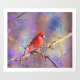 Lovely Cardinal Art Print