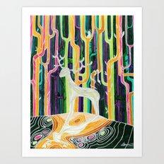 Forest god Art Print