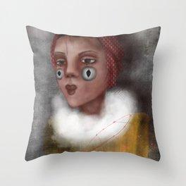 Paulina, the Clown Throw Pillow