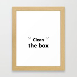 Litter Box Cat Print Design Product Framed Art Print