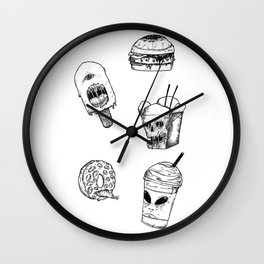Monster Food Wall Clock