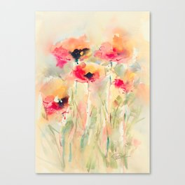 Poppies (abstract) Canvas Print