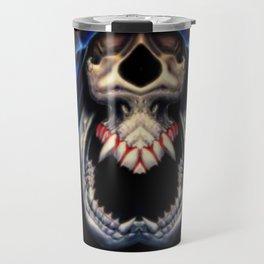 Blue Caped Skull Travel Mug