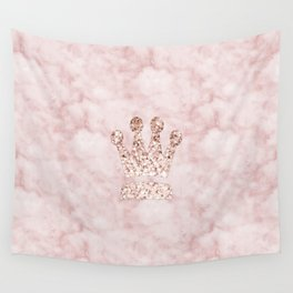Rose gold - crown Wall Tapestry