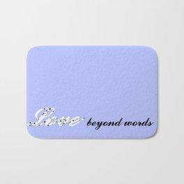 Love Beyond Words (Light Blue) Bath Mat