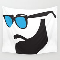 beard Wall Tapestries featuring Beard by Paco Dozier